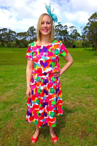 Melbourne Cup two piece - Papercut Patterns Skipper tunic paired with Megan Nielsen Brumby skirt